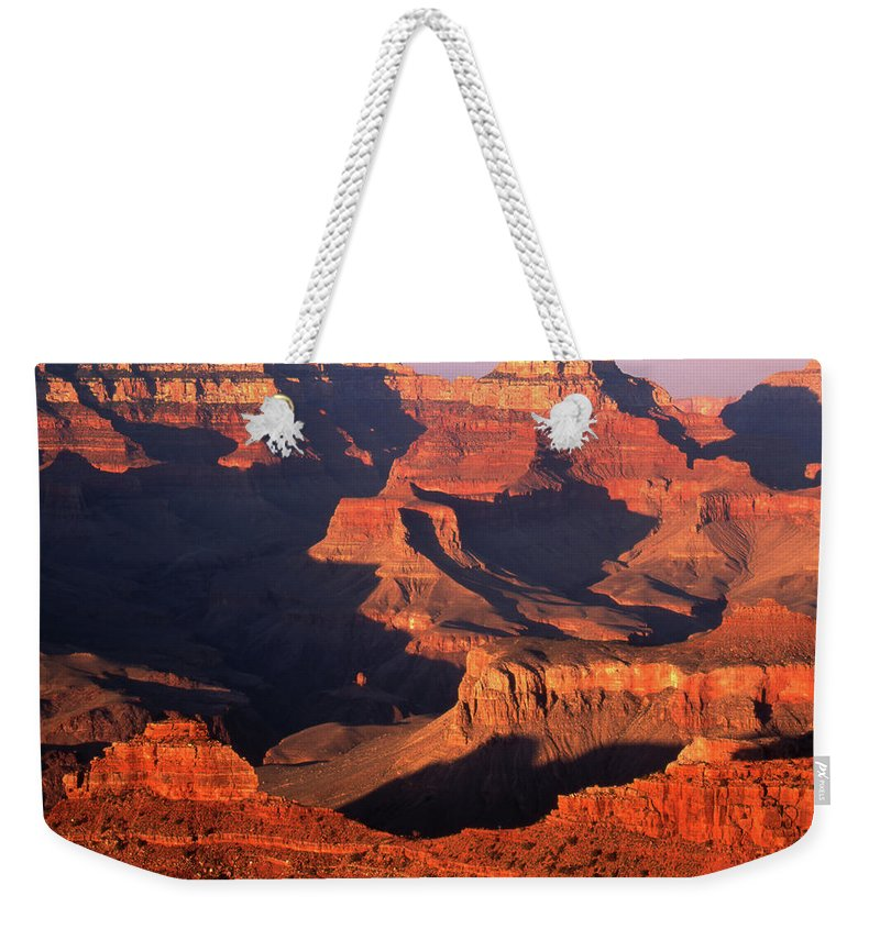 Toughness Weekender Tote Bag featuring the photograph Sunset Over Grand Canyon by By Tiina Gill