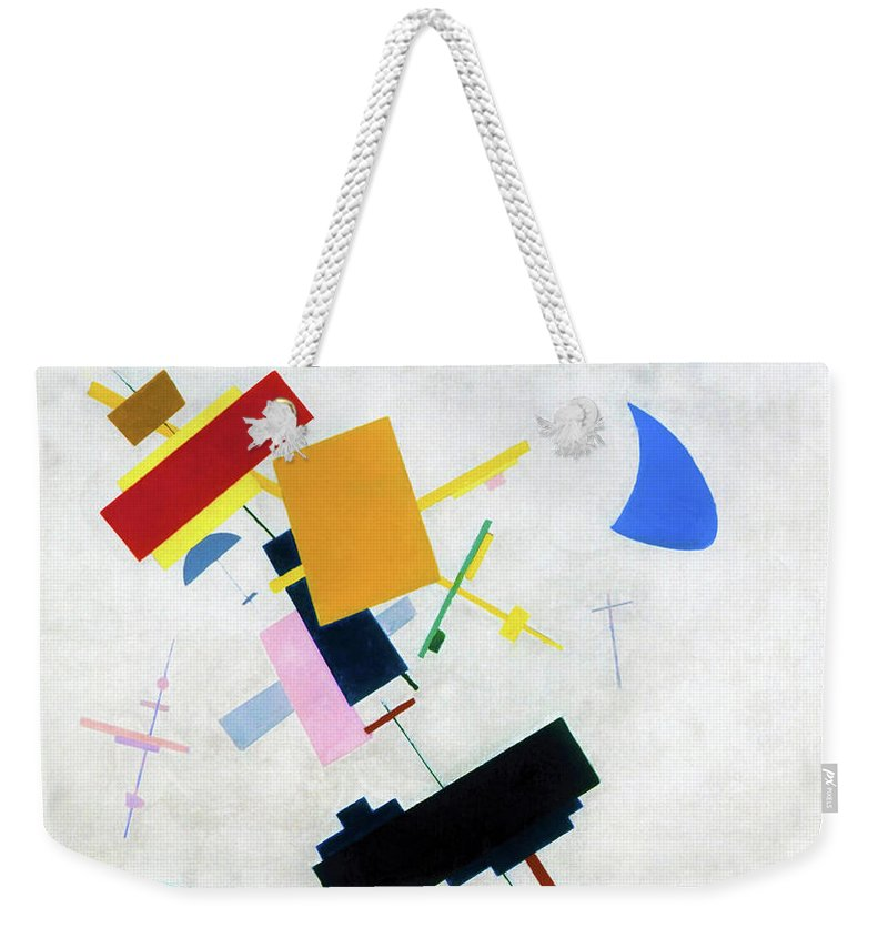 Suprematism Weekender Tote Bag featuring the painting Suprematism 1915 - Digital Remastered Edition by Kazimir Severinovich Malevich