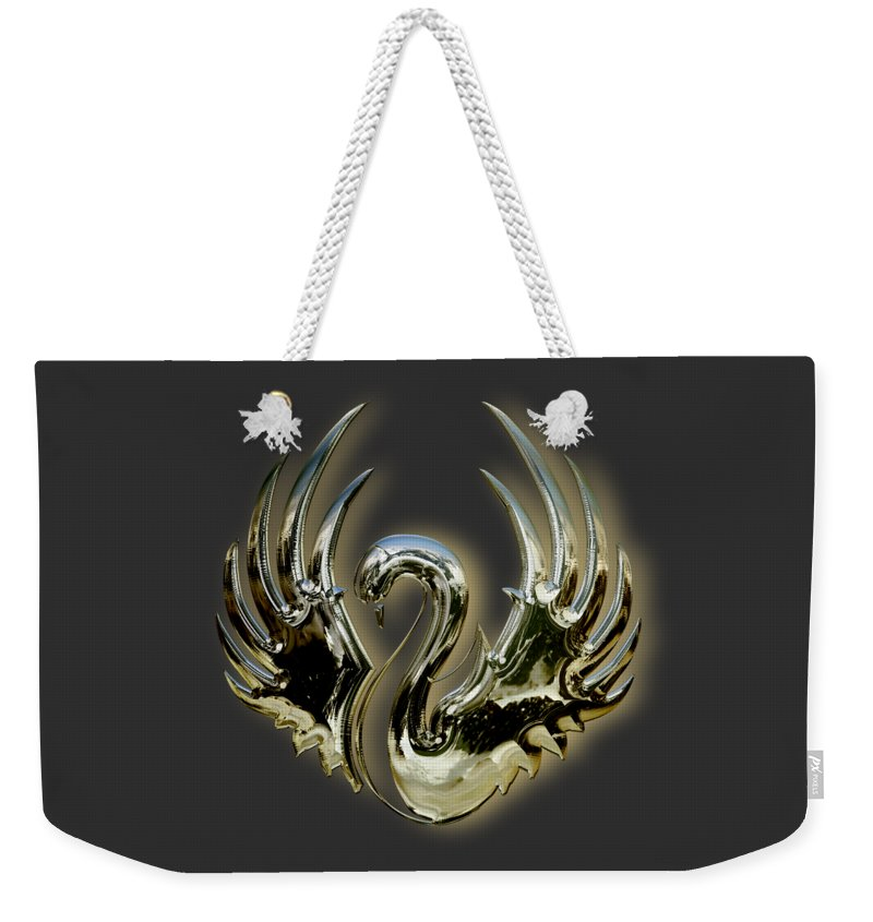 Swan Weekender Tote Bag featuring the mixed media Swan by Marvin Blaine