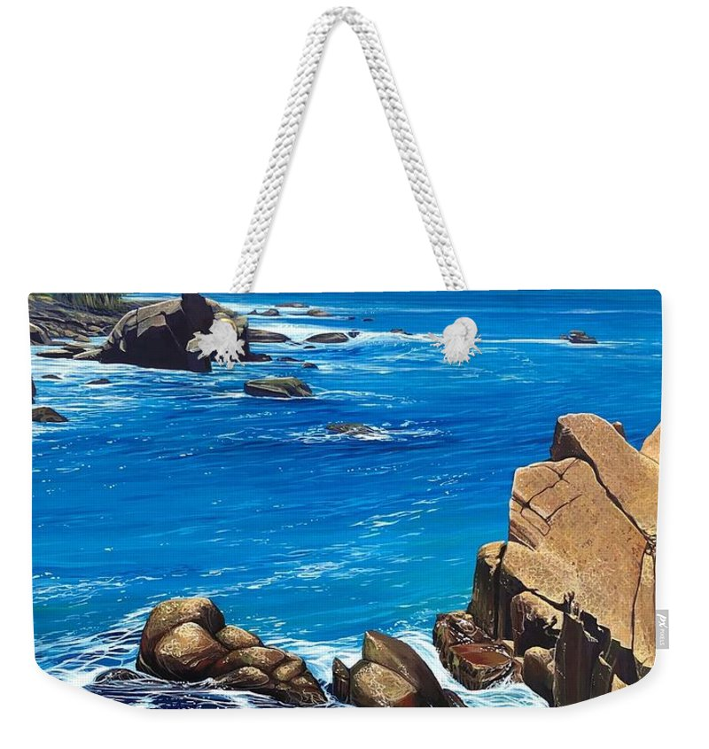 Puerto Vallarta Weekender Tote Bag featuring the painting Swept Away by Hunter Jay