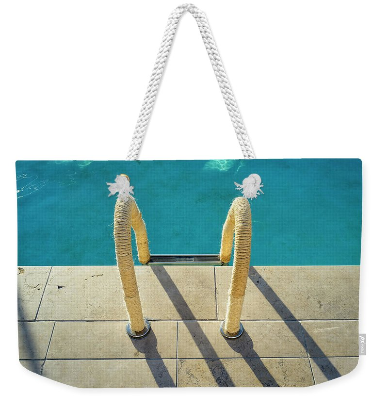 California Weekender Tote Bag featuring the photograph Swimming Pool Ladder, Los Angeles by Alvis Upitis