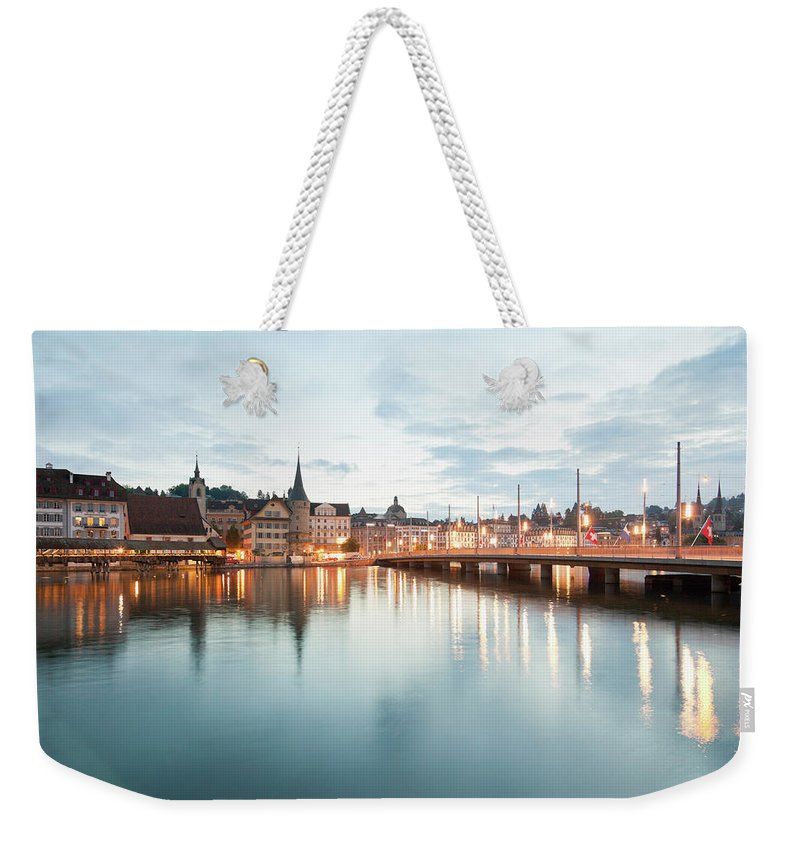 Dawn Weekender Tote Bag featuring the photograph Switzerland, Lucerne, View Of by Westend61