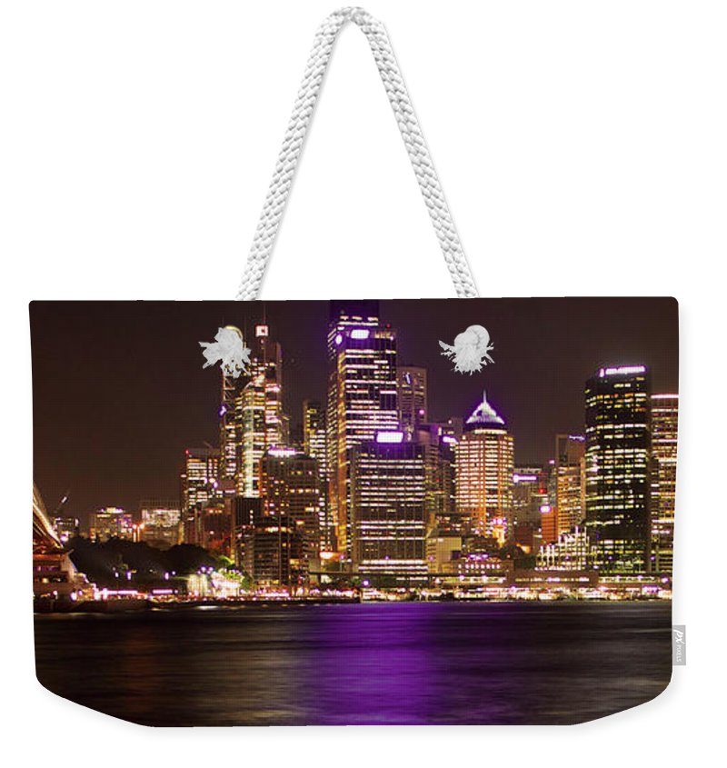 Panoramic Weekender Tote Bag featuring the photograph Sydney In Bronze by Capturing The Beauty Around Us, One Chapter At A Time...