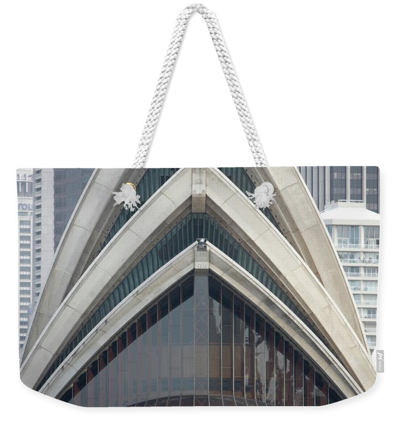 Built Structure Weekender Tote Bag featuring the photograph Sydney Opera House by Andrew Holt