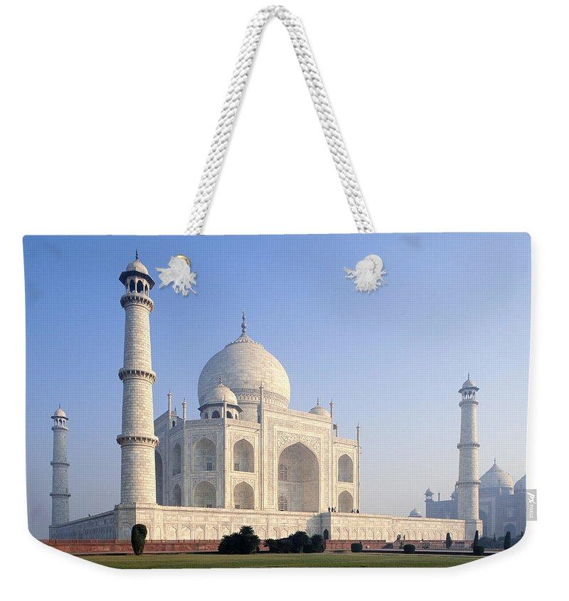 Scenics Weekender Tote Bag featuring the photograph Taj Mahal, Agra, Uttar Pradesh, India by Frans Lemmens