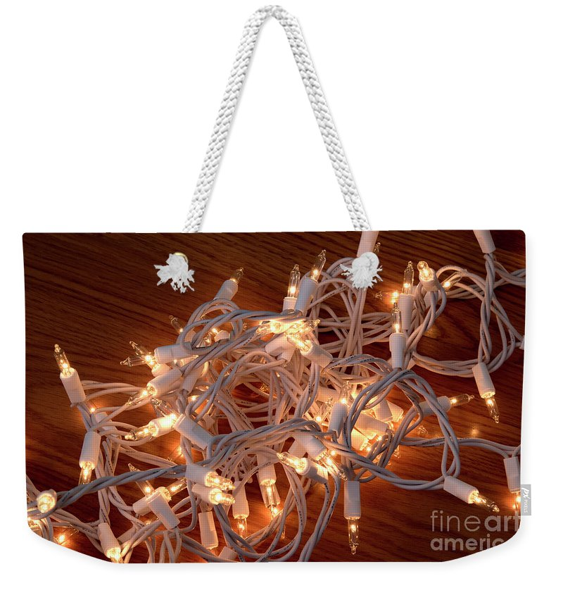 Tangle Weekender Tote Bag featuring the photograph Tangled Lights by Michelle Himes