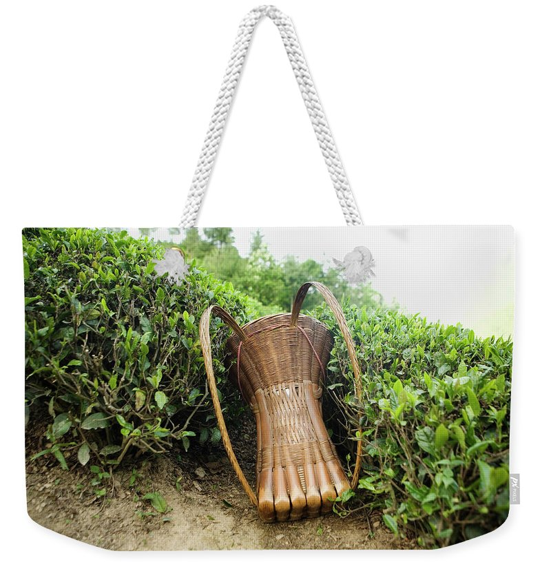 Outdoors Weekender Tote Bag featuring the photograph Tea Pickers Basket by Russell Monk