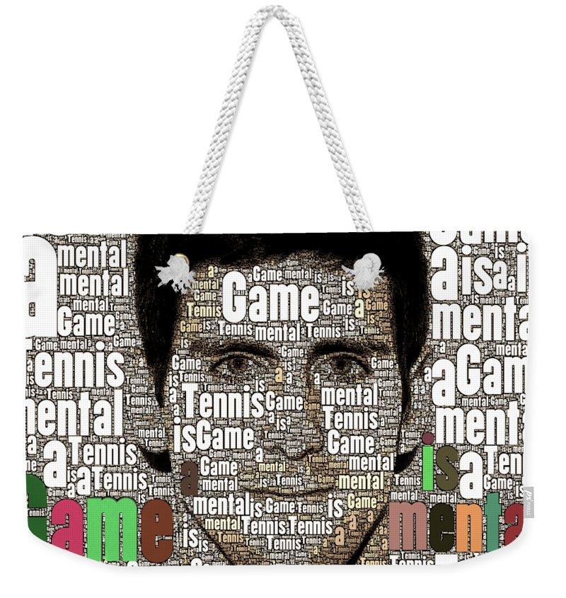 Tennis Is A Mental Game Novak Djokovic Weekender Tote Bag For Sale By Christina Fairhead