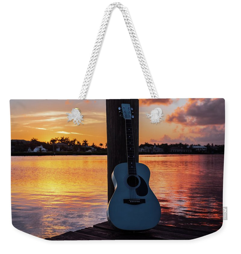 Music Weekender Tote Bag featuring the photograph Tequila Sunrise by Laura Fasulo