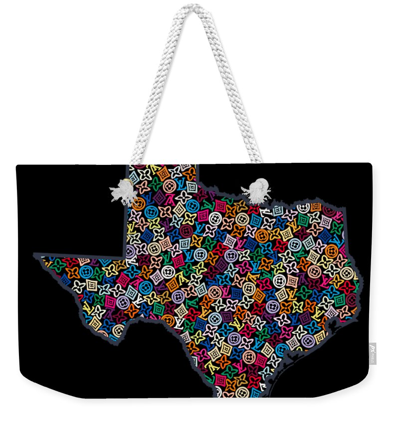 Lv Weekender Tote Bag featuring the painting Texas Map - 2 by Nikita