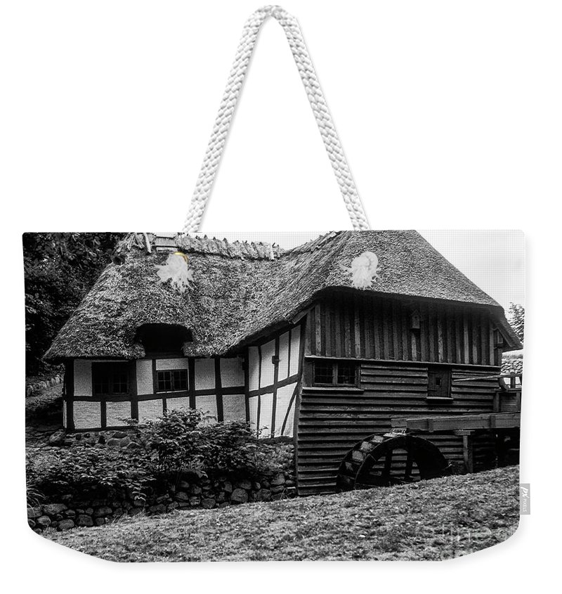Danish Thatched Watermill Weekender Tote Bag featuring the photograph Thatched Watermill 2 by Bob Phillips