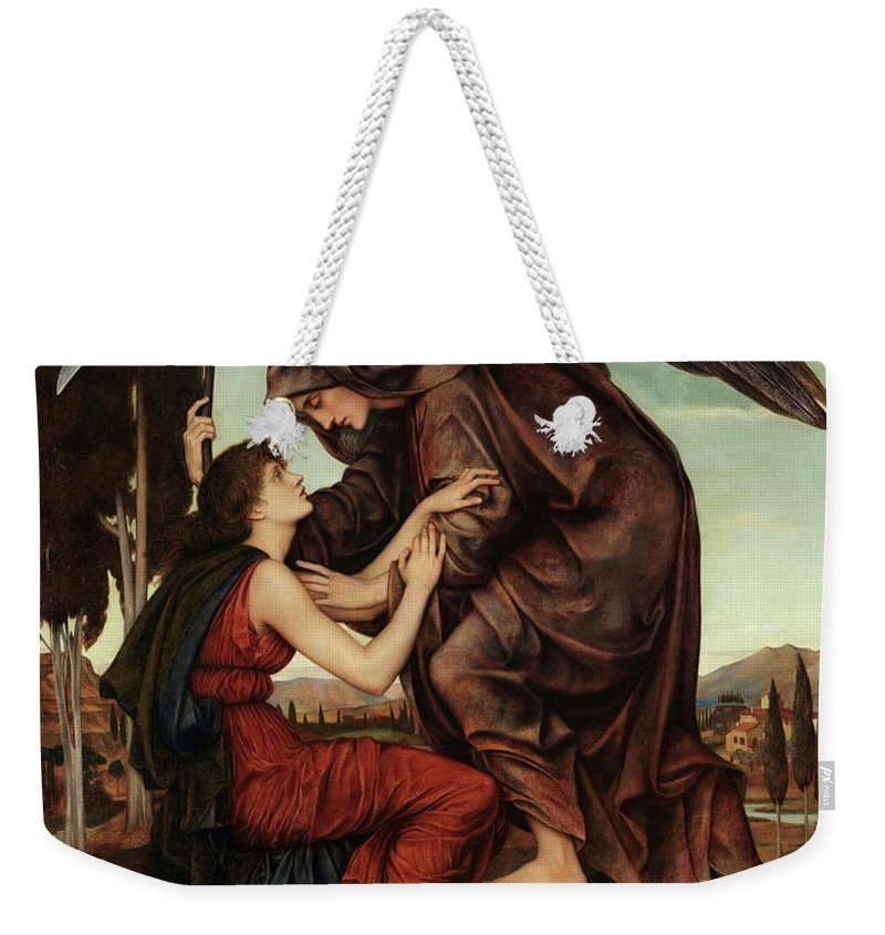 Evelyn De Morgan Weekender Tote Bag featuring the painting The Angel Of Death, 1880 by Evelyn De Morgan