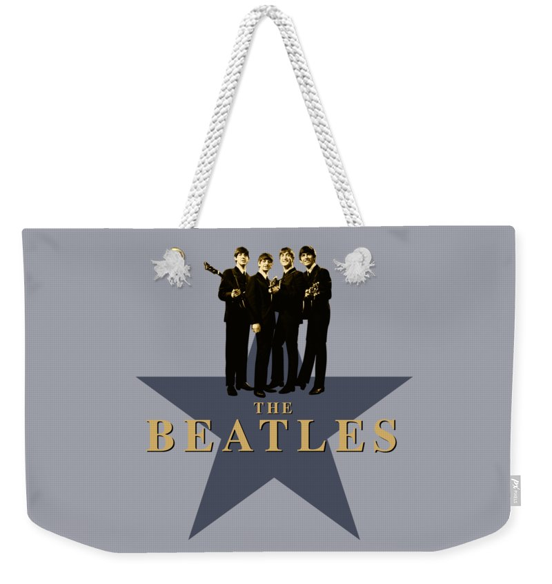 The Beatles Weekender Tote Bag featuring the digital art The Beatles - Signature by David Richardson