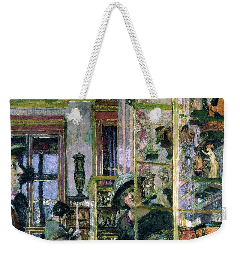 Edouard Vuillard Weekender Tote Bag featuring the painting The Clarac Room - Digital Remastered Edition by Edouard Vuillard
