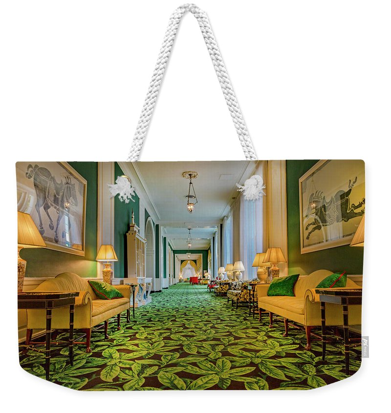 The Weekender Tote Bag featuring the photograph The Corridor by Betsy Knapp
