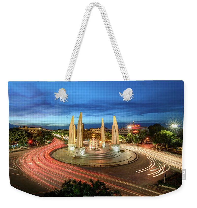 Built Structure Weekender Tote Bag featuring the photograph The Democracy Monument by Thanapol Marattana