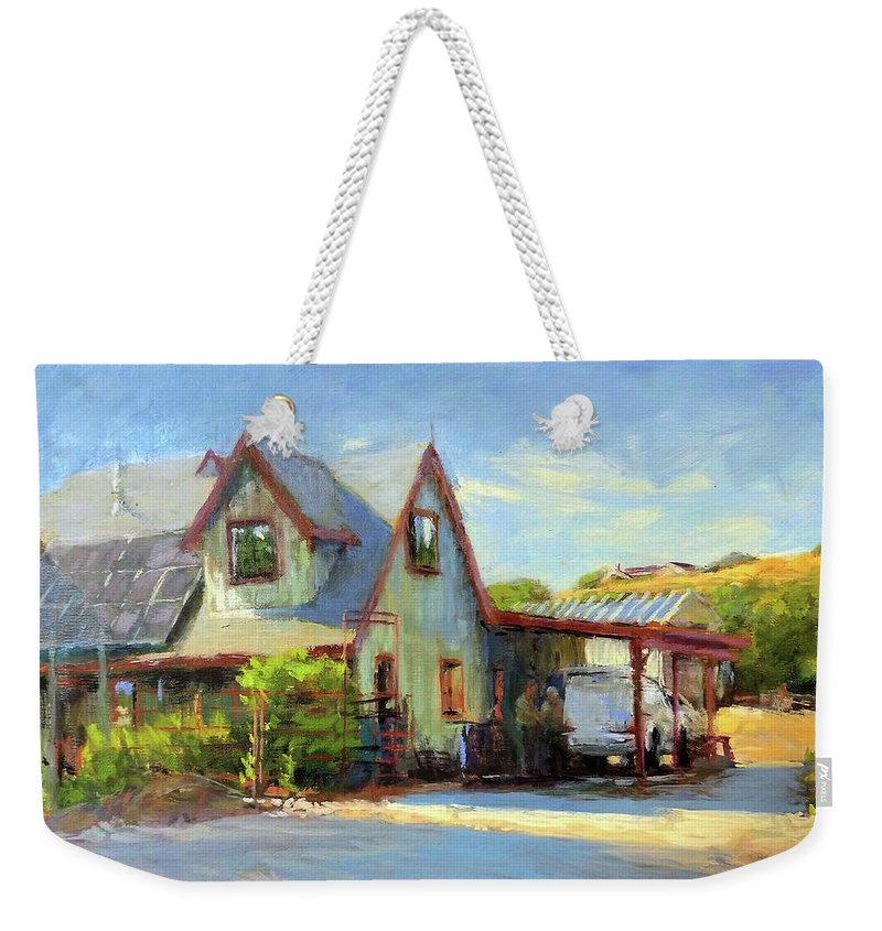 California Weekender Tote Bag featuring the painting The Doctor Is In by Peter Salwen