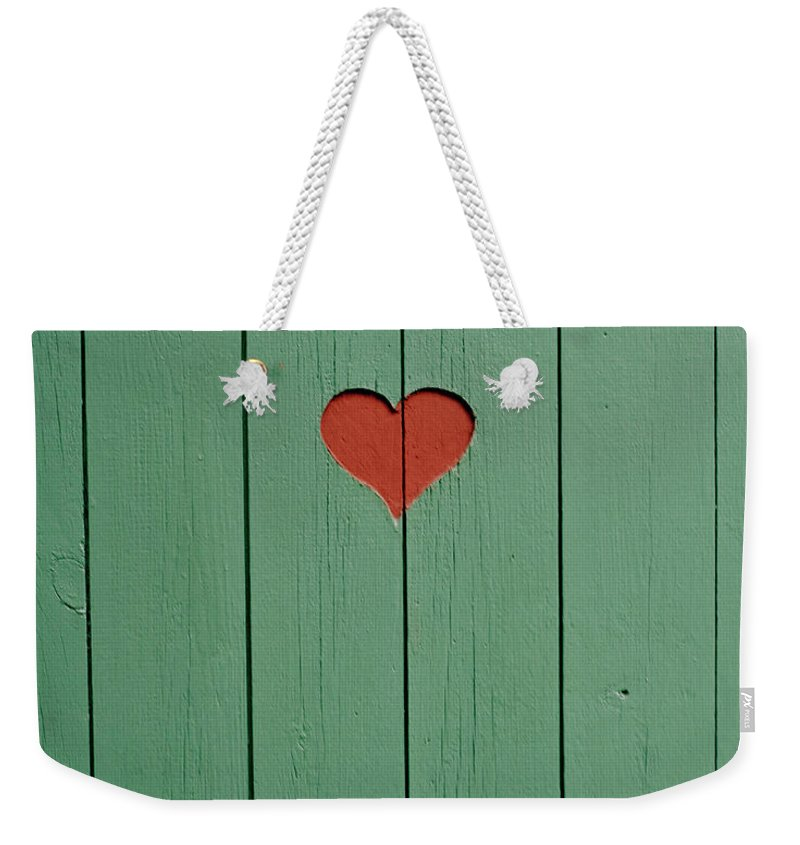 Outhouse Weekender Tote Bag featuring the photograph The Door To A Outhouse by Fredrik Nyman