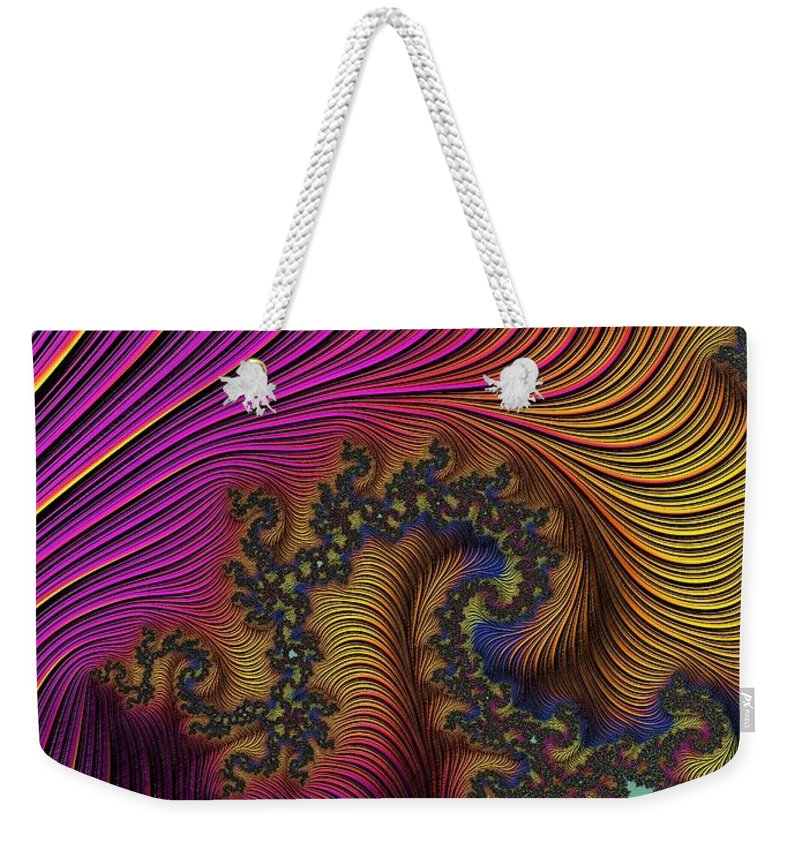 Digital Art Weekender Tote Bag featuring the photograph The Dragon by Minnetta Heidbrink