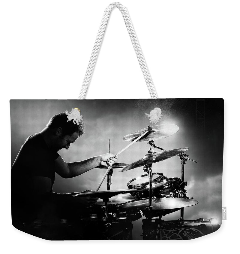 Drummer Weekender Tote Bag featuring the photograph The Drummer by Johan Swanepoel