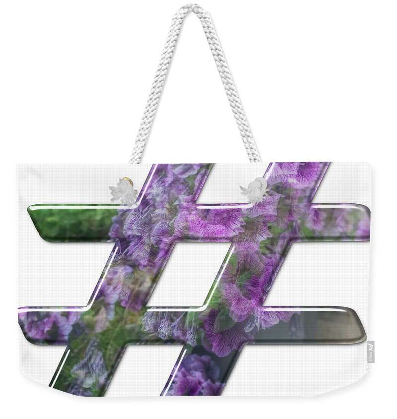 Hashtag Weekender Tote Bag featuring the photograph The Hashtag Symbol by Humorous Quotes