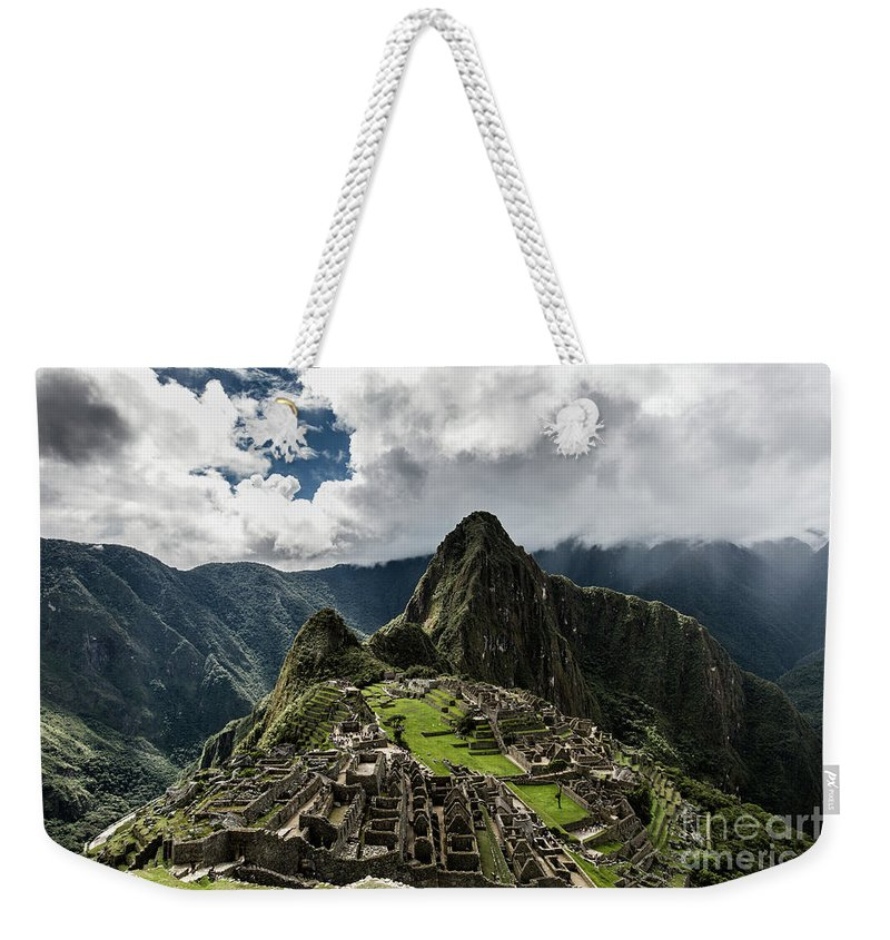 Scenics Weekender Tote Bag featuring the photograph The Inca Trail, Machu Picchu, Peru by Kevin Huang