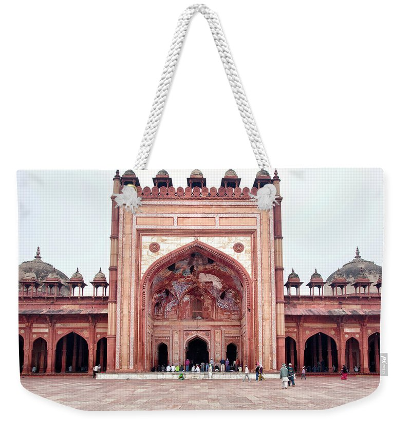 Arch Weekender Tote Bag featuring the photograph The Jama Masjid Mosque _3940 by Photograph By Howard Koons