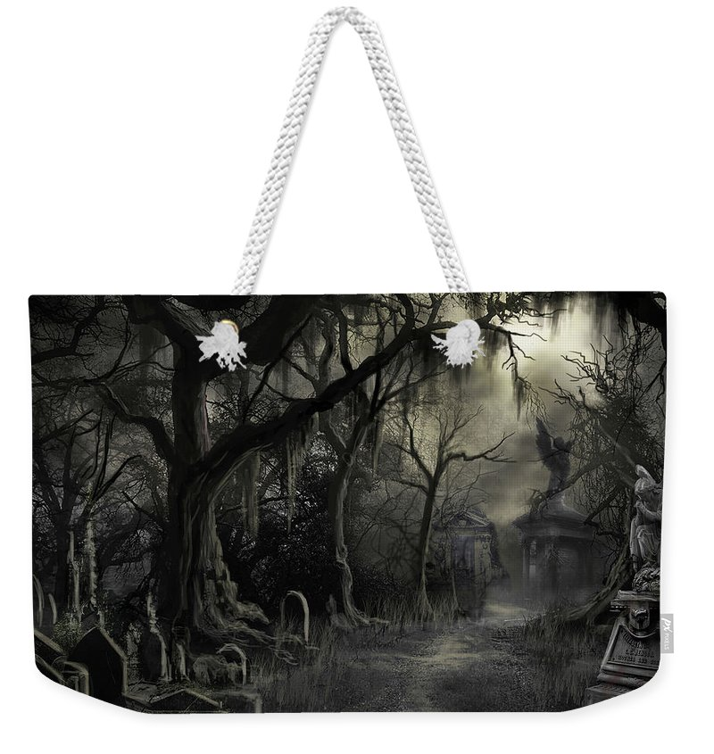 Cemetery Weekender Tote Bag featuring the painting The Lost Cemetery by James Christopher Hill