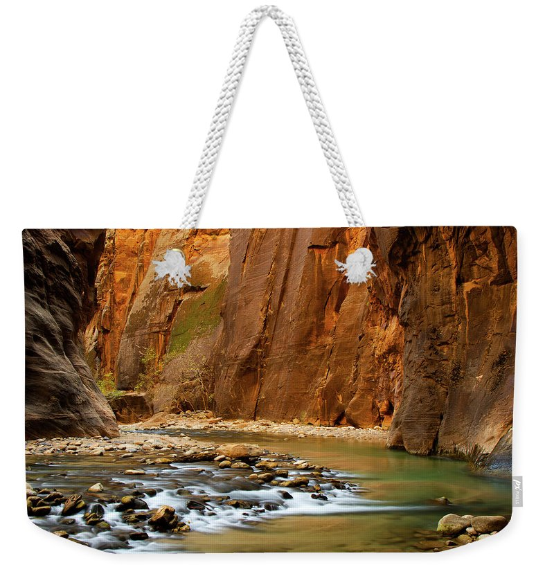 Zion Narrows Weekender Tote Bag featuring the photograph The Narrows by Beklaus