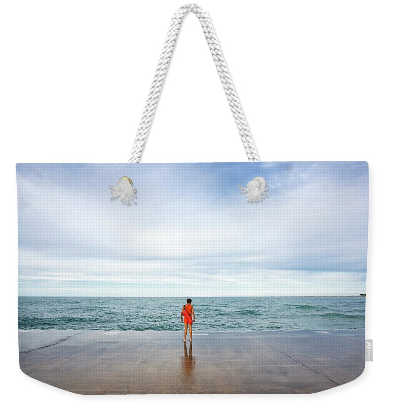 Water's Edge Weekender Tote Bag featuring the photograph The North Shore On The Lake Drive by Maremagnum