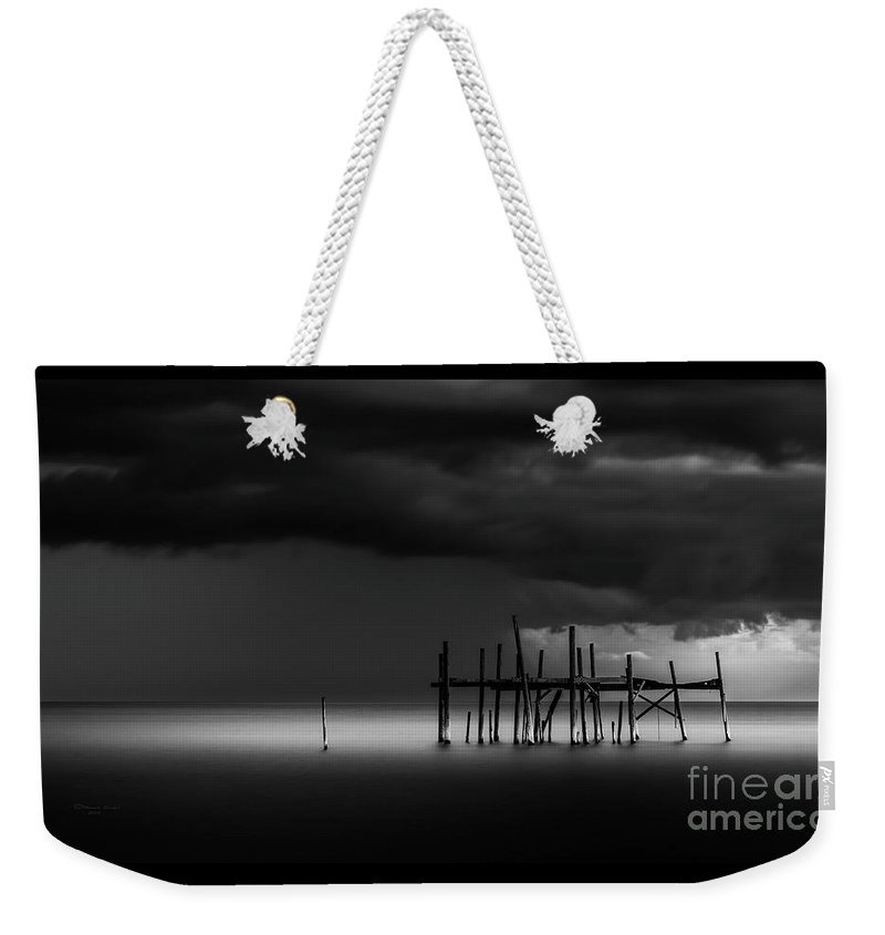 Pier Weekender Tote Bag featuring the photograph The Outer Rim by Marvin Spates