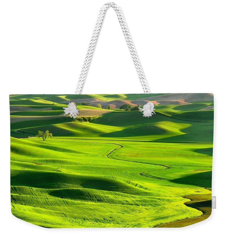 Scenics Weekender Tote Bag featuring the photograph The Palouse Rolling Hills by Justinreznick