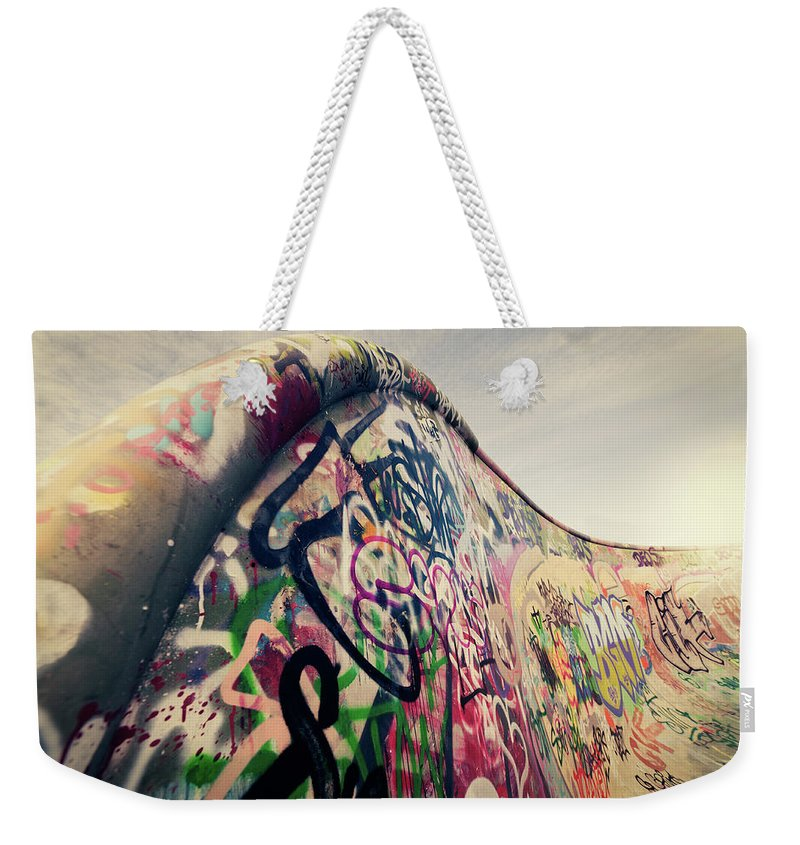 Orange Color Weekender Tote Bag featuring the photograph The Ramp by Ppampicture
