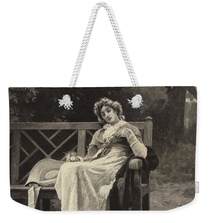 Weekender Tote Bag featuring the drawing The Return by Marcus Stone