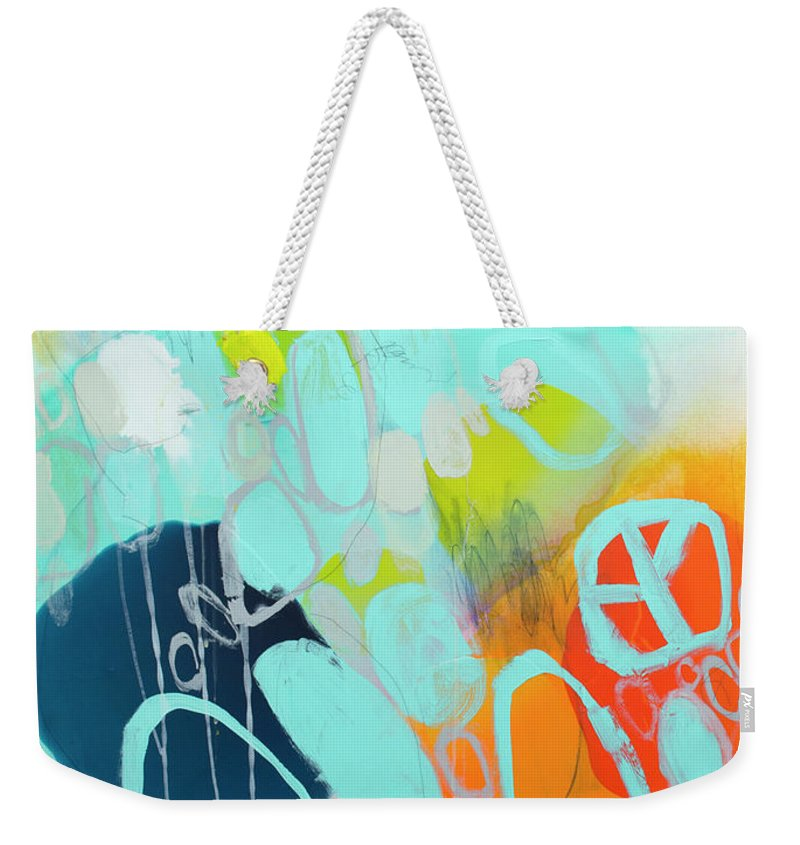 Abstract Weekender Tote Bag featuring the painting The Right Thing by Claire Desjardins