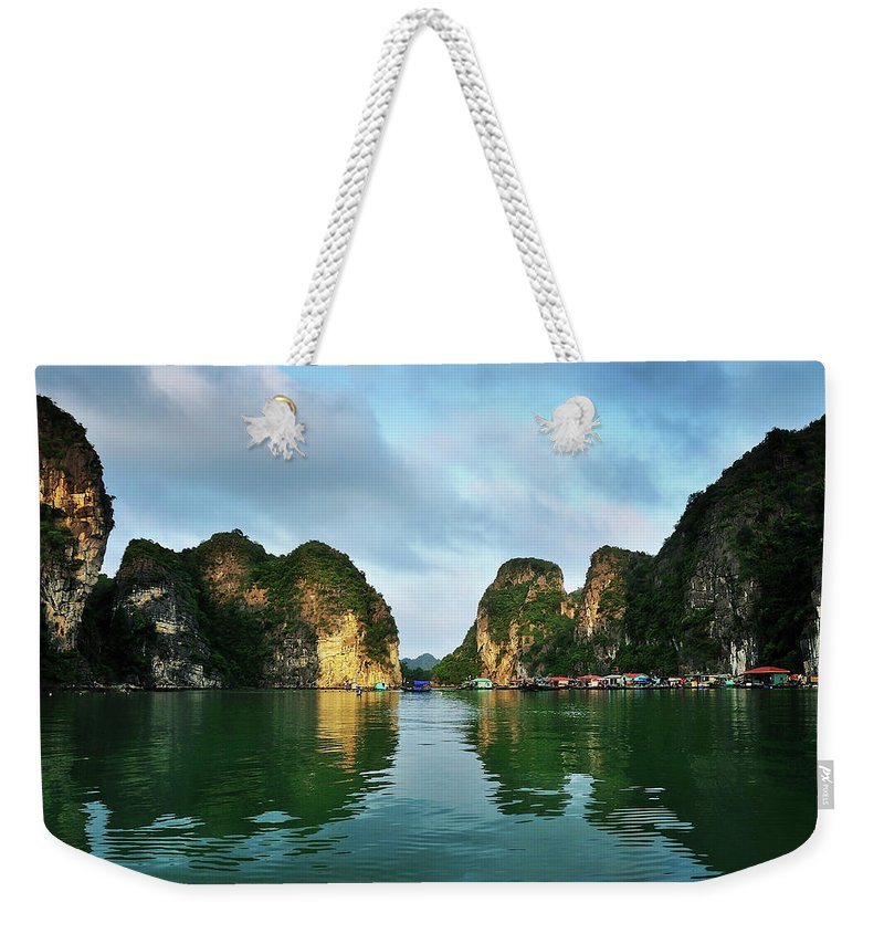Scenics Weekender Tote Bag featuring the photograph The Scenic Of Halong Bay by Photo By Sayid Budhi