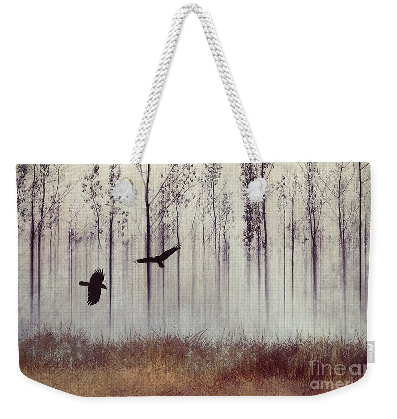 Raven Weekender Tote Bag featuring the photograph There Are Always Two by Priska Wettstein