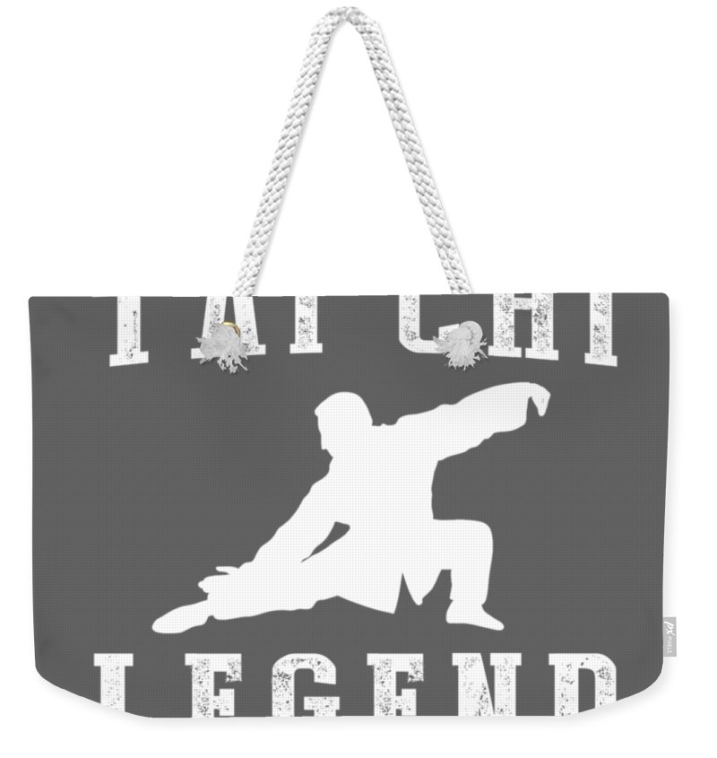 This Is Weekender Tote Bag featuring the digital art This Is What The Back Of A Tai-chi Legend Looks Like by Do David