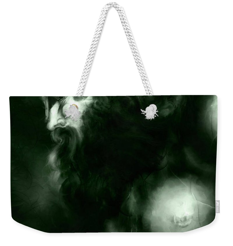 Thor Weekender Tote Bag featuring the mixed media Thor by Curtiss Shaffer