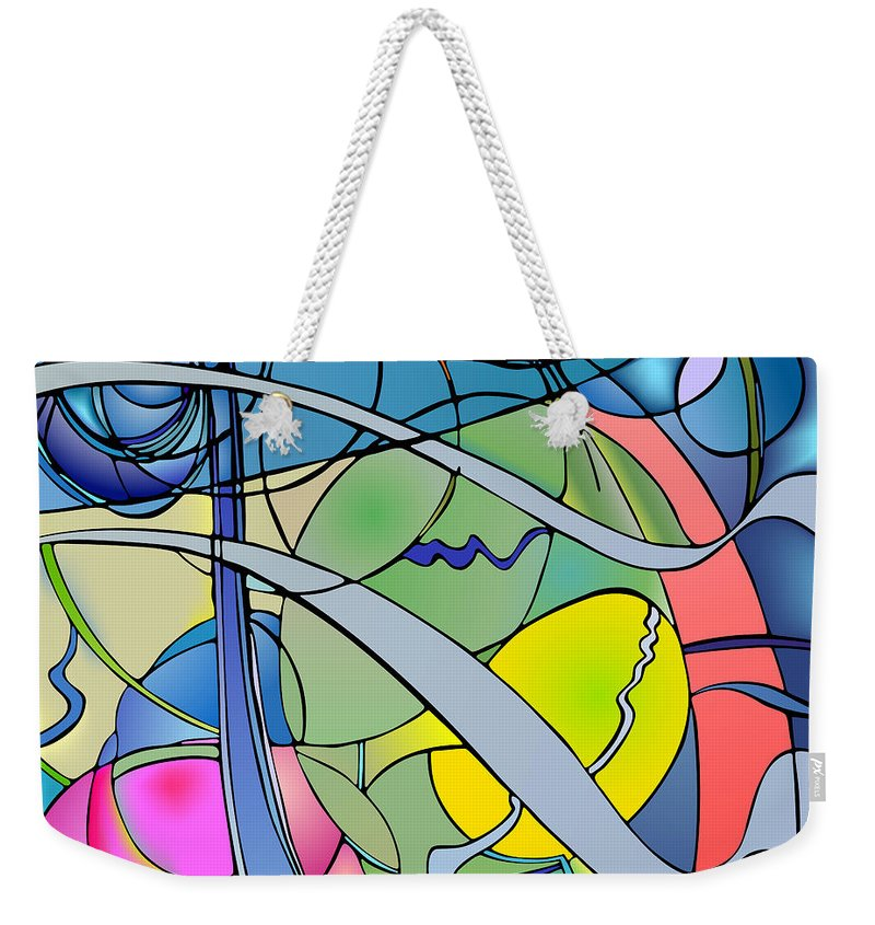 Nonobjective Weekender Tote Bag featuring the digital art Thought Patterns #2 by James Fryer