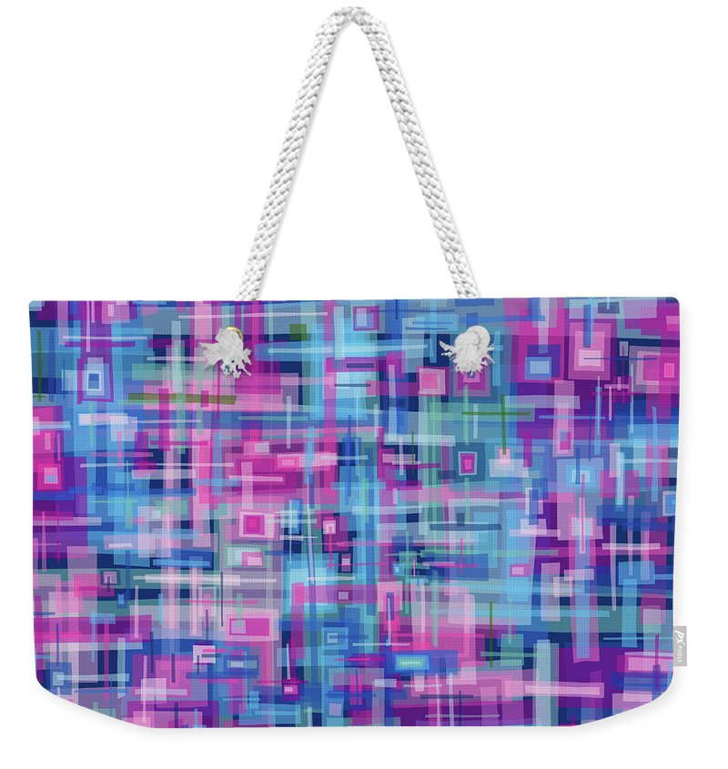 Nonobjective Weekender Tote Bag featuring the digital art Thought Patterns #4 by James Fryer