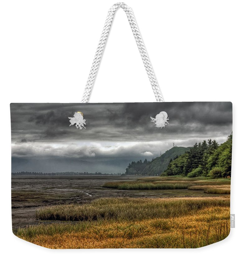 Scenics Weekender Tote Bag featuring the photograph Tillamook Estuary by Photo By Ryan J. Zeigler