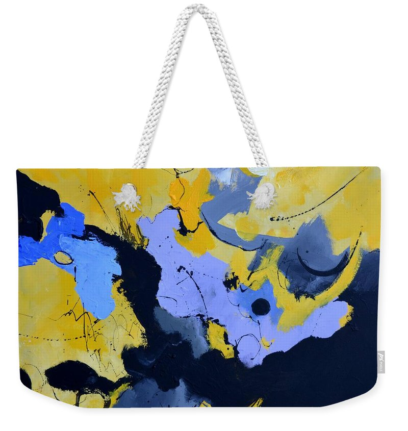 Abstract Weekender Tote Bag featuring the painting Time Machine by Pol Ledent