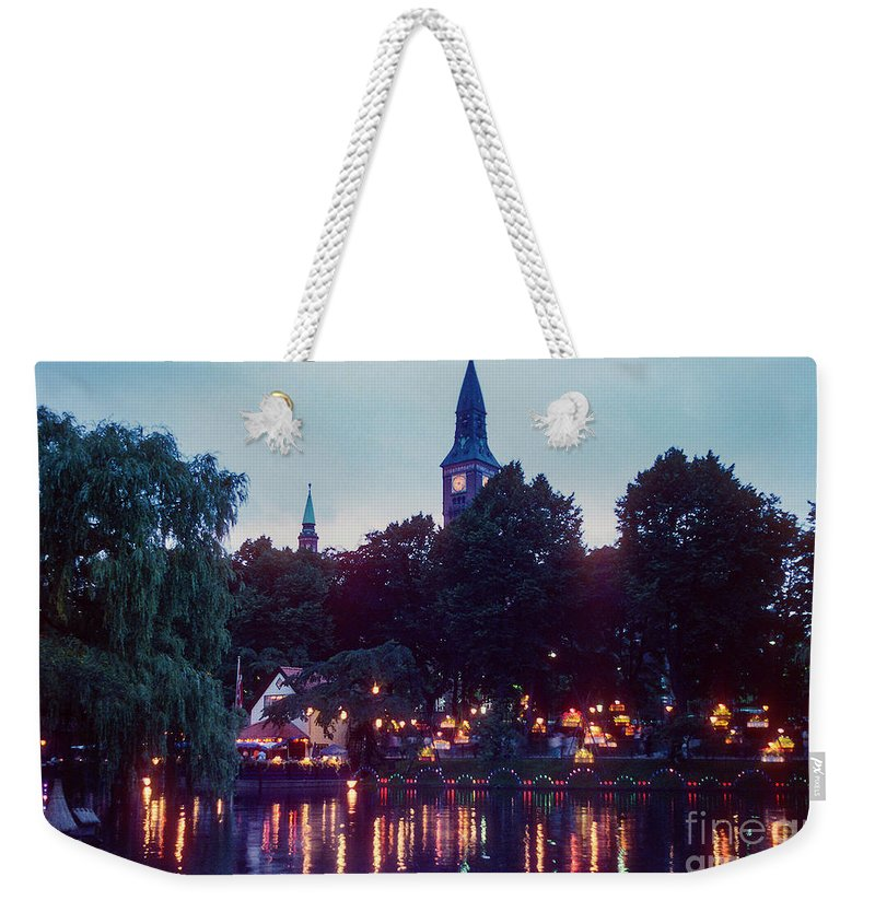 Tivoli Gardens Weekender Tote Bag featuring the photograph Tivoli Night Lights by Bob Phillips