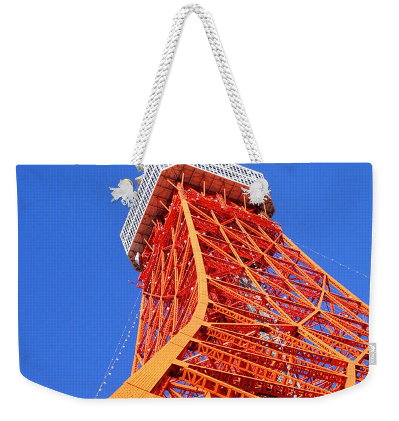 Tokyo Tower Weekender Tote Bag featuring the photograph Tokyo Tower by Ngkaki