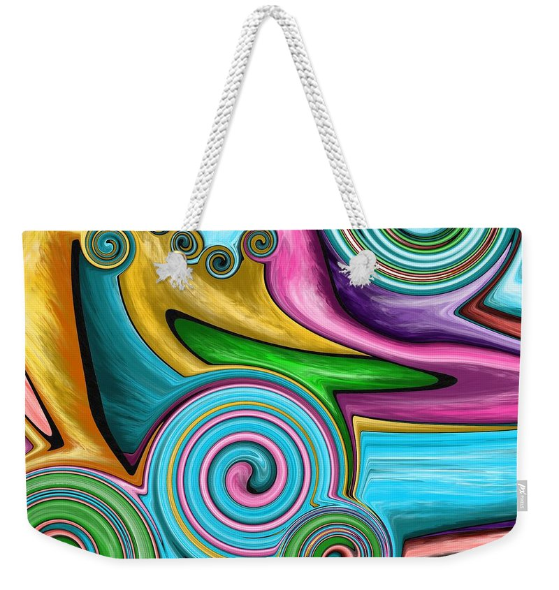 Tornado Weekender Tote Bag featuring the painting Tornado Over The Meadow by Patricia Piotrak