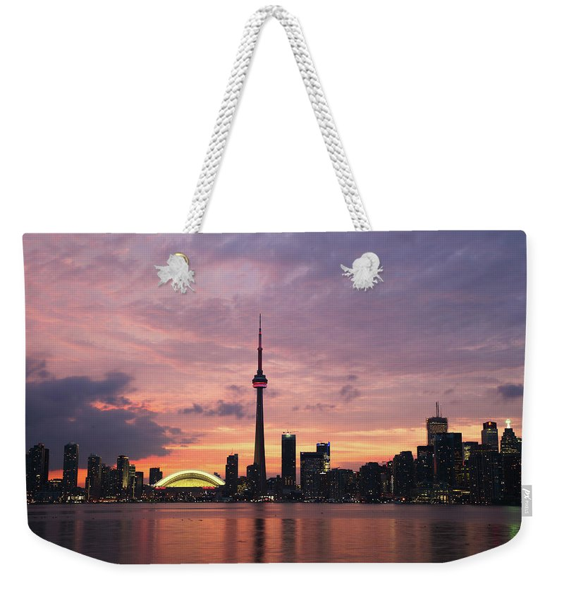 Lake Ontario Weekender Tote Bag featuring the photograph Toronto by Js`s Favorite Things