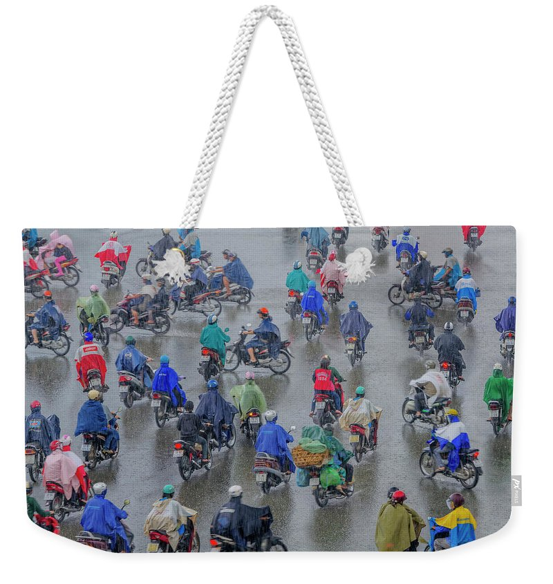 Ho Chi Minh City Weekender Tote Bag featuring the photograph Traffic In Ho Chi Minh City by Rwp Uk