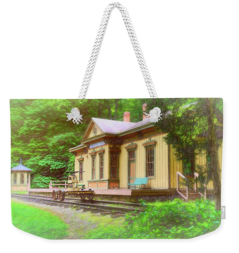 Railroad Station Photographs Weekender Tote Bags