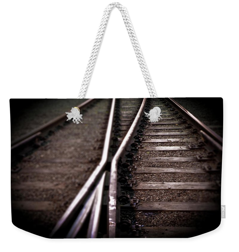 Freight Transportation Weekender Tote Bag featuring the photograph Train Line Crossing by Mikulas1